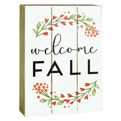 "Belle Maison ""Welcome Fall"" Box Sign Art"