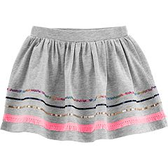 Toddler Girl Carter's Sequined-Hem Skort