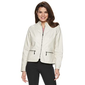 Women's Apt. 9® Faux-Leather Quilted Jacket