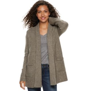 Women's SONOMA Goods for Life? Supersoft Airy Shawl Collar Cardigan