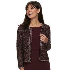 Women's ELLE™ Tweed Open-Front Blazer