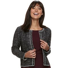 Women's ELLE™ Tweed Open-Front Cardigan