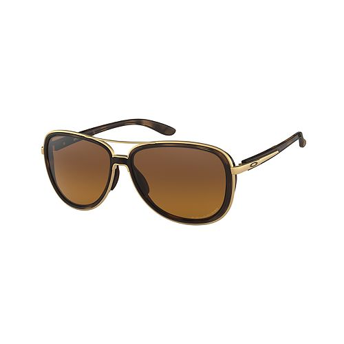 Oakley Split Time OO4129 58mm Aviator Gradient Polarized Sunglasses