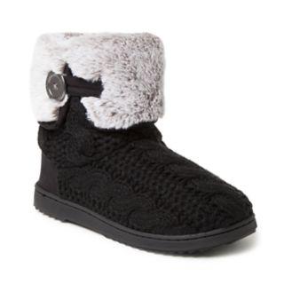 Women's Dearfoams Cable Knit Boot Slippers