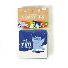 Holiday Drink Coaster Set by 30 Watt