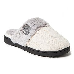 Women's Dearfoams Cable Knit Scuff Slippers