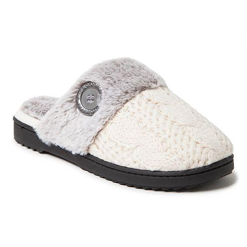 28c90cb4d4d61 Women's Dearfoams Cable Knit Scuff Slippers