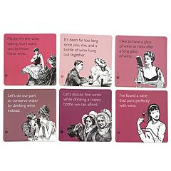Someecards 6-pack Assorted Wine Drink Coasters by 30 Watt