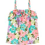 Girls 4-14 Carter's Floral Tie Tank Top