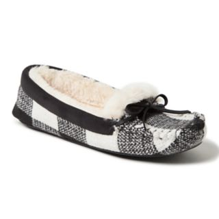 Women's Dearfoams Mixed Materials Moccasin Slippers