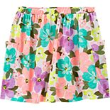 Girls 4-14 Carter's Floral Slubbed Skort