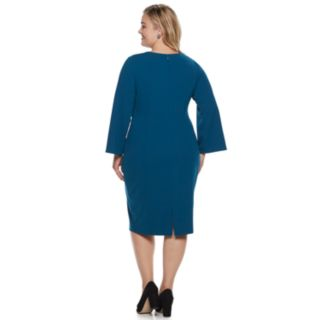 Plus Size Suite 7 Flared Sleeve Sheath Dress