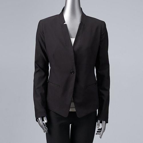 Women's Simply Vera Vera Wang Simply Cropped Blazer