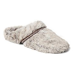 Women's Dearfoams Woven Trim Scuff Slippers