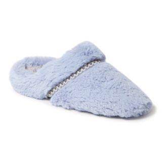 Women's Dearfoams Woven Trim Scuff Slippers