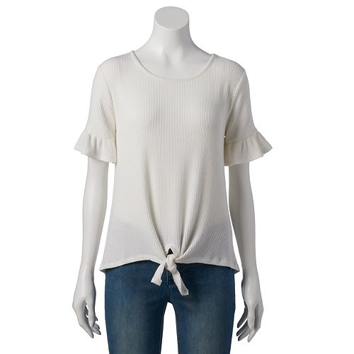 Women's LC Lauren Conrad Weekend Flutter Sleeve Tee