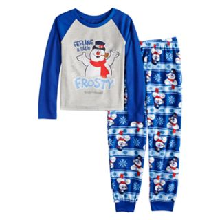 "Girls 4-12 Jammies For Your Families Frosty the Snowman ""Feeling a Little Frosty"" Top & Microfleece Bottoms Pajama Set"