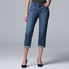 Women's Simply Vera Vera Wang Midrise Boyfriend Jeans