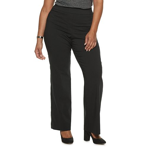 Plus Size Apt. 9® Brynn Midrise Pull-On Bootcut Dress Pants