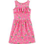 Girls 4-14 Carter's Ruffled Rainbow & Butterfly Dress