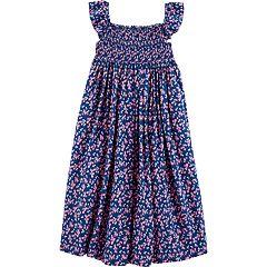 Girls 4-14 Carter's Floral Smocked Dress
