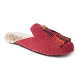 Women's Dearfoams Felt Tassel Mule Slippers