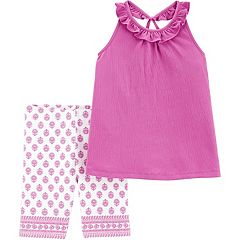 Girls 4-8 Carter's Crinkle Jersey Tank Top & Tumbling Shorts Set
