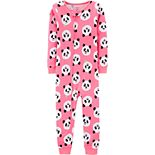 Baby Girl Panda Bear One-Piece Footless Pajamas