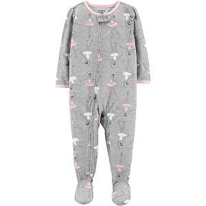 777c62441 Toddler Boy Carter s Polar Bear Buffalo Plaid Fleece Footed Pajamas