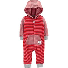 Baby Boy Carter's Striped Hooded Jumpsuit Romper