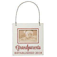 'Grandparents Established 2018' 3' x 2' Frame Christmas Ornament