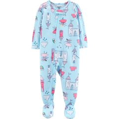 Baby Girl Carter's Fairy & Castle Footed Pajamas