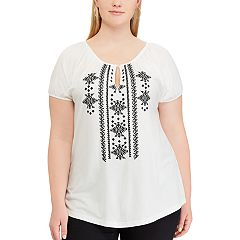 Plus Size Chaps  Embroidered Top