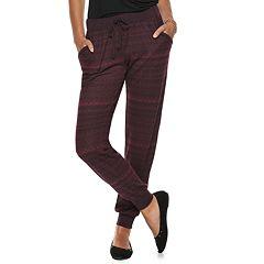 Juniors' SO® Low-Rise Printed Hatchi Jogger Pants