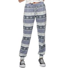 Juniors' SO® Low-Rise Printed Hatchi Jogger Pants