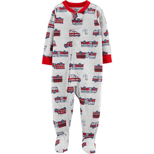 d1ae158e7 Baby Boy Carter's Fire Truck Footed Pajamas