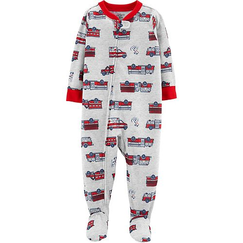Toddler Boy Carter's Fire Truck & Ambulance Footed Pajamas