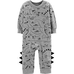 Baby Boy Carter's Dinosaur 3-D Spikes Jumpsuit Romper