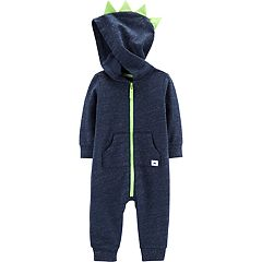 Baby Boy Carter's Dino Spike Hooded Jumpsuit Romper