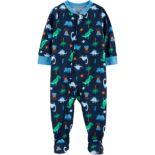 Baby Boy Carter's Dinosaur Footed Pajamas