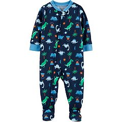 Toddler Boy Carter's Dinosaur Footed Pajamas