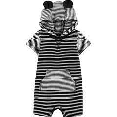 Baby Boy Carter's Striped Bear Ears Romper