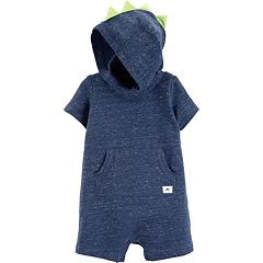 Baby Boy Carter's Dino Spike Hooded Romper
