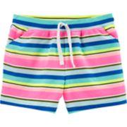 Girls 4-14 Carter's Striped Knit Shorts