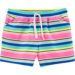 Girls 4-14 Carter's Striped Knit Shorts