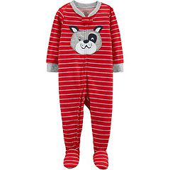 Toddler Boy Carter's Striped Dog Footed Pajamas