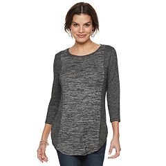 Women's Apt. 9® Mixed Rib Tunic
