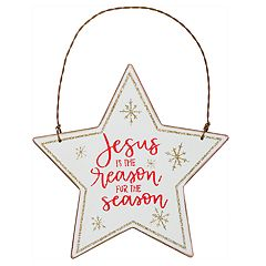 'Jesus Is The Reason' Christmas Ornament