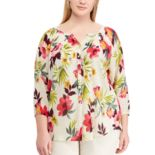 Plus Size Chaps Floral Top