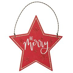 'Be Merry' Star Christmas Ornament